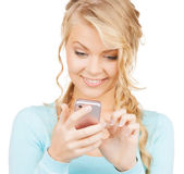 Woman with smartphone — Stock Photo