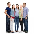 Group of smiling students standing — Stockfoto