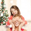 Mother and daughter making joke — Stockfoto #35940627
