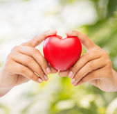 Woman hands with heart — Stock Photo