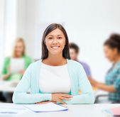 International student studying in college — Stock Photo