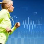 Woman doing running outdoors — Stock Photo #36656319