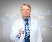 Calm doctor or professor with stethoscope — Stock fotografie