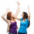 Two happy dancing girls — Stock Photo #37004149
