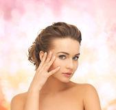 Beautiful woman with updo — Stock Photo