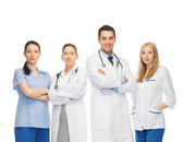 Young team or group of doctors — Stock fotografie