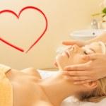 Woman in spa salon getting facial — Stock Photo