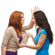 Two teenagers having a fight and getting physical — Stock Photo #37137461
