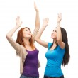 Two happy dancing girls — Stock Photo #37137595
