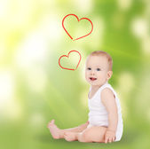 Adorable smiling baby — Stockfoto