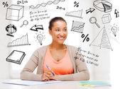 Estudar na faculdade internacional de estudantes — Foto Stock