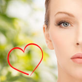 Face of beautiful woman — Stock Photo