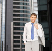 Handsome businessman in suit — Stock Photo