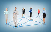 Social or business network — Foto Stock