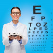Smiling female doctor with eyeglasses — Stock Photo #39329313