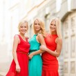 Stock Photo: Three beautiful women in the city