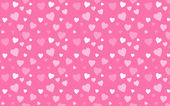 Pink wallpaper with white hearts — Stock Photo