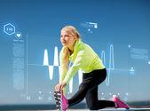 Vrouw doen buiten sport — Stockfoto