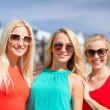 Three beautiful women in the city — Stock Photo #39709885