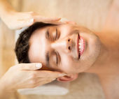 Man in spa — Stock Photo