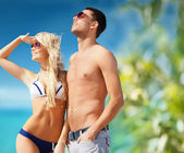 Beautiful couple on the beach — Fotografia Stock