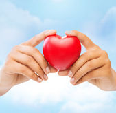 Female hands with heart — Stock Photo