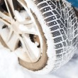 Closeup of car winter tire — Stock Photo #40153485