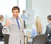 親指を現して実業家 — ストック写真