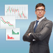 Attractive buisnessman or teacher in glasses — Stock Photo