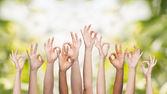 Mãos humanas mostrando sinal ok — Fotografia Stock