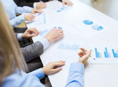 Close up of chats and graphs in office — Stock Photo
