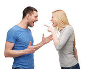 Couple arguing — Foto Stock