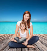 Happy mother with adorable little girl — Foto Stock