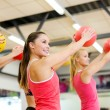 Group of people working out with stability balls — Stock Photo #42115845