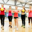Стоковое фото: Group of people working out with stability balls