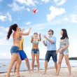Group of friends having fun on beach — Stock Photo #42116207