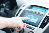 Man using car control panel — Stock Photo