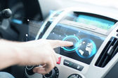 Man using car control panel — Foto Stock