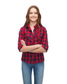 Smiling young woman in casual clothes — Stock Photo