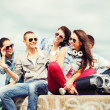 Group of teenagers hanging out — Stock Photo #42860949