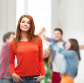 Smiling teen girl at school — Stock Photo