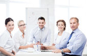 Business team having meeting in office — Photo