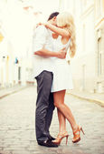 Couple in the city — Stockfoto