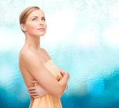 Beautiful woman in towel — Stock Photo