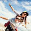 Teenagers having fun outside — Stock Photo #43847751