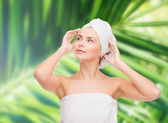 Beautiful woman in towel — Stock Photo