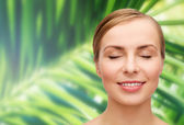 Face of beautiful woman with closed eyes — Stock Photo