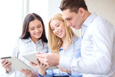 Business team working with tablet pcs in office — Stock Photo