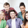 Group of students at school — Stock Photo #45040533