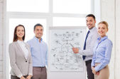 ビジネス チームのオフィスで何かを議論します。 — ストック写真